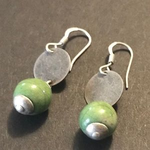 Jewelry - Silver and Green Earrings